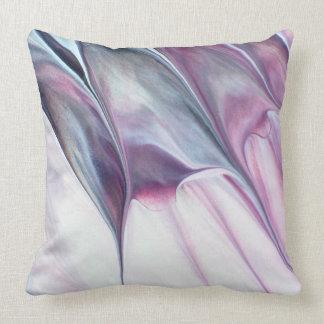 Dark Purple Abstract Throw Pillow