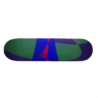 Dark Purple and Blue Simple Abstract Skateboards