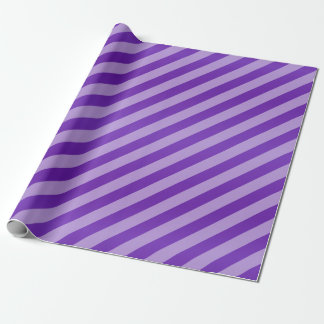 Dark Purple and Diagonal Stripes Wrapping Paper
