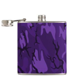 Dark Purple Camo Flask