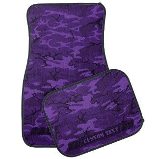 Dark Purple Camo w/ Custom Text Floor Mat