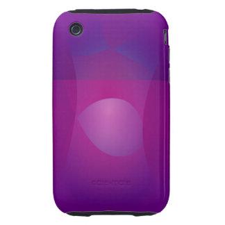 Dark Purple Cool Abstract Art Tough iPhone 3 Case