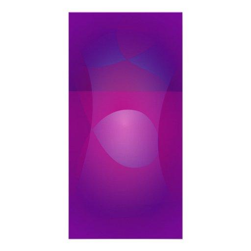 Dark Purple Cool Abstract Art Photo Cards