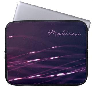 Dark Purple Custom Name Laptop Sleeve 15''