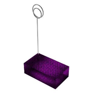 Dark Purple Damask Table Card Holder