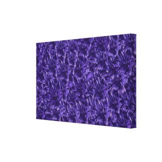 Dark Purple Flowers on Flowers Canvas Print