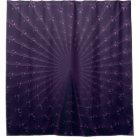 Dark Purple Fractal Peacock Feather Pattern Shower Curtain