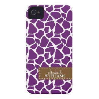 Dark Purple Giraffe Pattern iPhone 4 Cover