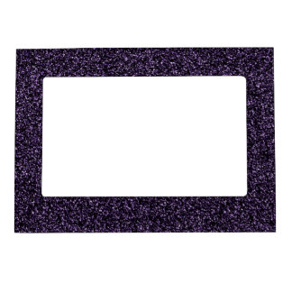 Dark purple glitter magnetic picture frame