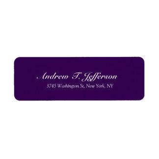 Dark Purple Handwriting Professional Personal Return Address Label
