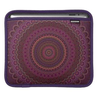Dark purple mandala iPad sleeve