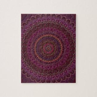 Dark purple mandala jigsaw puzzle