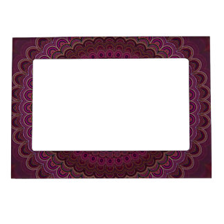 Dark purple mandala magnetic frame