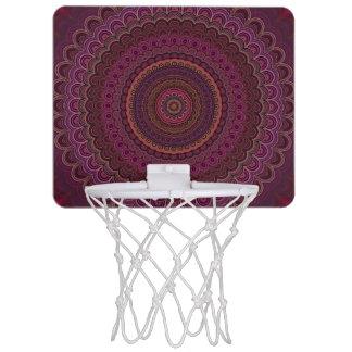 Dark purple mandala mini basketball hoop