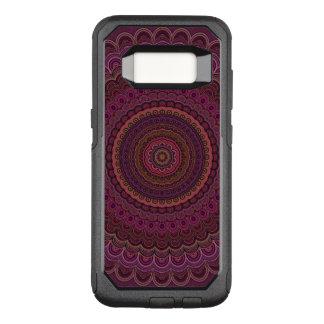 Dark purple mandala OtterBox commuter samsung galaxy s8 case