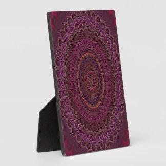 Dark purple mandala plaque