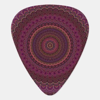 Dark purple mandala plectrum