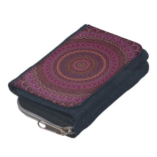 Dark purple mandala wallets