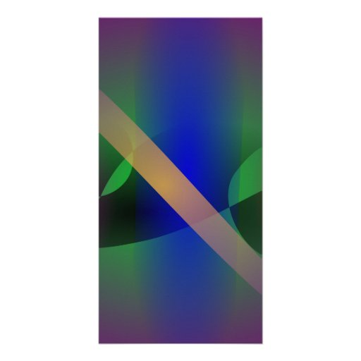 Dark Purple Moderate and Primitive Abstract Art Customized Photo Card