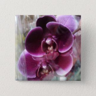 Dark Purple Moth Orchids 15 Cm Square Badge