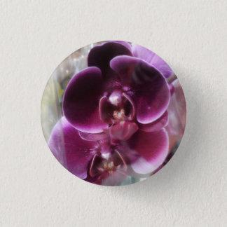 Dark Purple Moth Orchids 3 Cm Round Badge