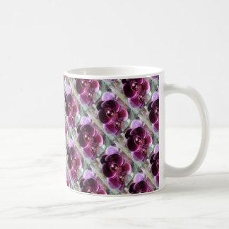 Dark Purple Moth Orchids Coffee Mug