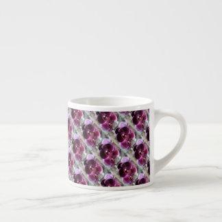 Dark Purple Moth Orchids Espresso Cup