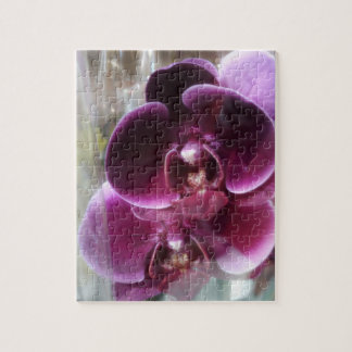 Dark Purple Moth Orchids Jigsaw Puzzle