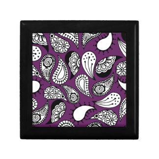 Dark Purple Paisley Gift Box