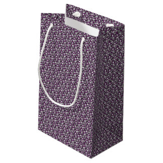 Dark Purple Paisley Small Gift Bag