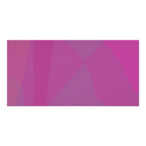 Dark Purple Custom Photo Card