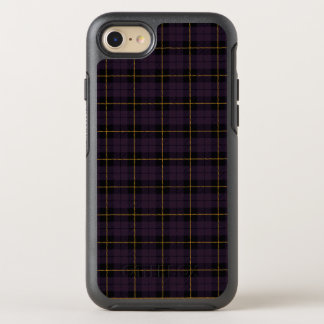 Dark purple plum with yellow and black stripe OtterBox symmetry iPhone 8/7 case