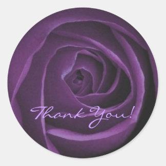 Dark Purple Rose Sticker