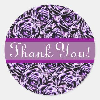Dark Purple Roses Sticker