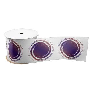 Dark Purple Swirling Circles Satin Ribbon