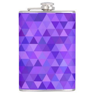 Dark purple triangle pattern hip flask