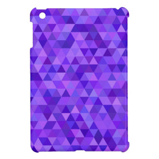 Dark purple triangle pattern iPad mini covers