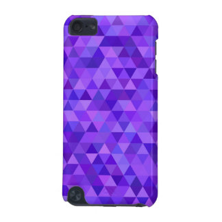 Dark purple triangle pattern iPod touch 5G cases