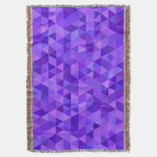 Dark purple triangle pattern throw blanket