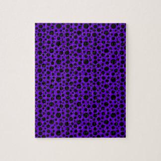 Dark Purple w/Black Circles Jigsaw Puzzle