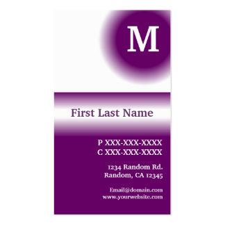 Dark purple white fade vertical business cards
