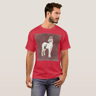 Dark Purple White Pony Watercolor Rare T-Shirt