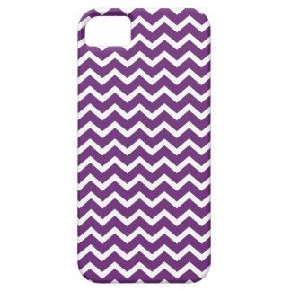 Dark Purple Zig Zag Chevrons Pattern iPhone 5 Cover