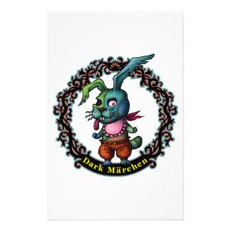 Dark Rabbit Personalised Stationery