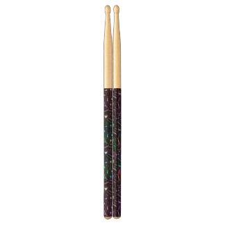 Dark Rainbow Glitter Custom Drumsticks Drum Sticks
