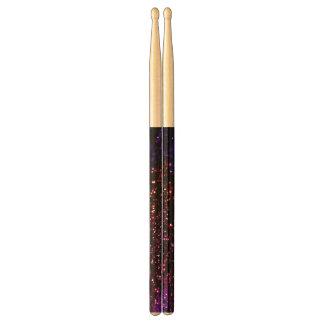 Dark Rainbow Glitter Effect Custom Drumsticks Drum Sticks