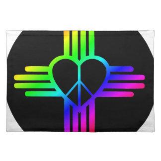 Dark Rainbow Zia Peace Placemat