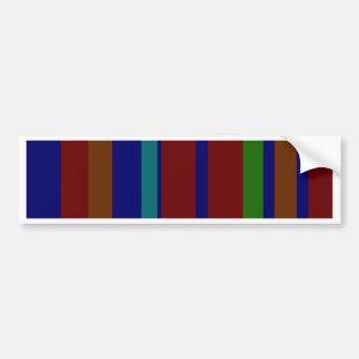 Dark Random Stripes Bumper Sticker