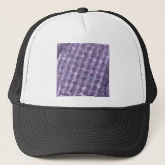 Dark Raspberry Abstract Low Polygon Background Trucker Hat