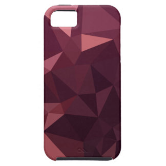 Dark Raspberry Red Abstract Low Polygon Background iPhone 5 Cover